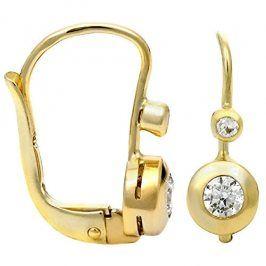 Brilio Zlaté náušnice s krystaly 239 001 00061 - 1,60 g