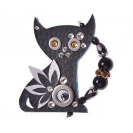 Petra Švarcová Elegantní brož Černá kočka