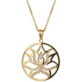 Preciosa Pozlacený náhrdelník Lotus Flower 7284Y00