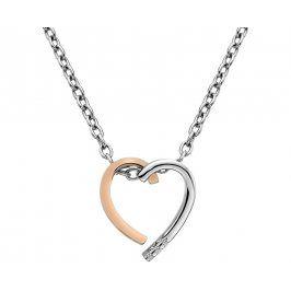 Hot Diamonds Bicolor náhrdelník Glide Heart Large DP627
