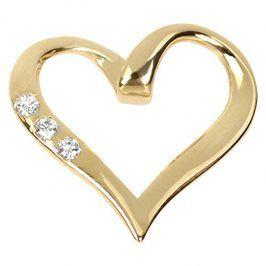 Brilio Zlatý přívěsek srdce s krystaly 249 001 00354 - 0,80 g