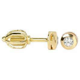 Brilio Zlaté náušnice s krystaly 236 001 00634