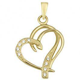 Brilio Módní zlatý přívěsek Srdce 249 001 00431 - 1,30 g