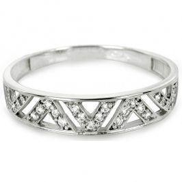 Brilio Prsten z bílého zlata s krystaly 229 001 00722 07 - 1,35 g 55 mm
