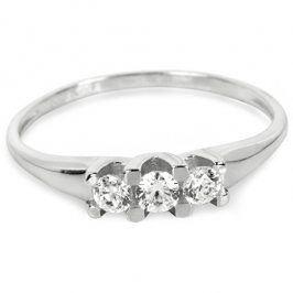 Brilio Prsten z bílého zlata 229 001 00707 07 - 1,50 g 55 mm