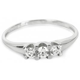 Brilio Dámský prsten z bílého zlata 229 001 00707 07 57 mm