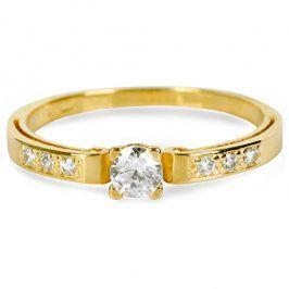 Brilio Zlatý prsten s krystaly 229 001 00498 - 1,45 g 50 mm