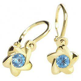 Brilio Zlaté dětské náušnice s modrými krystaly 236 001 00937 - 0,80 g