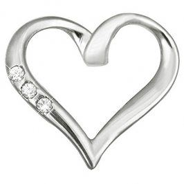 Brilio Zlatý přívěsek srdce s krystaly 249 001 00354 07 - 0,85 g