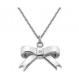 Hot Diamonds Stříbrný přívěsek Mašlička s diamantem Ribbon DP630