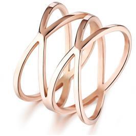 Troli Romantický bronzový prsten z oceli KRS-275 49 mm