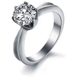Troli Ocelový prsten s krystalem KRS-174 49 mm