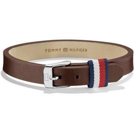 Tommy Hilfiger Hnědý kožený náramek TH2700957