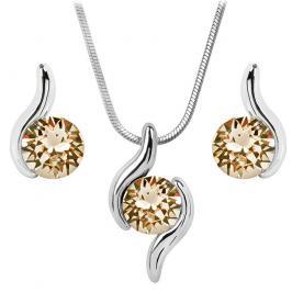 Troli Sada náhrdelníku a náušnic Chaton Wave Light Silk