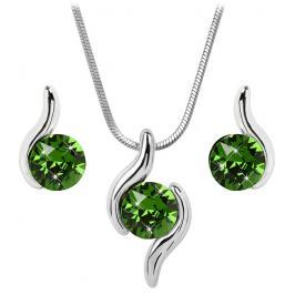 Troli Sada náhrdelníku a náušnic Chaton Wave Fern Green