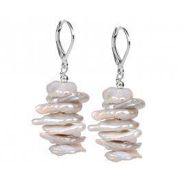 JwL Luxury Pearls Stříbrné náušnice s pravými perlami JL0311