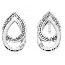 Hot Diamonds Stříbrné náušnice s diamanty Chandelier Vintage Oval DE498