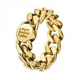 Tommy Hilfiger Fashion pozlacený prsten TH2700967 58 mm