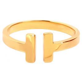 Troli pozlacený prsten z oceli 28 gold TO1855