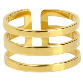Troli trojitý prsten z pozlacené oceli 75 gold TO1870