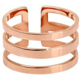 Troli trojitý prsten z růžově pozlacené oceli 75 rose gold TO1871