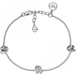Emporio Armani Luxusní stříbrný náramek EG3315040