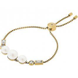 Michael Kors Jemný zlatý náramek s korálky a čirými krystaly MKJ6644710