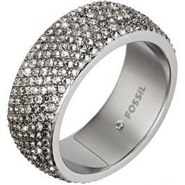 Fossil Třpytivý ocelový prsten JF02150040 59 mm