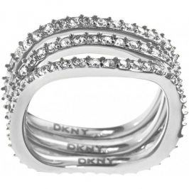 DKNY Trojitý prsten s krystaly NJ1919040 56 mm