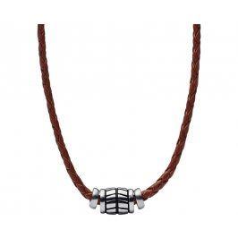 Fossil Pánský kožený náhrdelník JF02687040