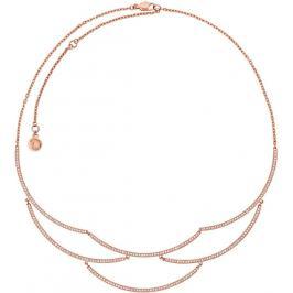 Michael Kors Luxusní bronzový náhrdelník s krystaly MKJ6637791