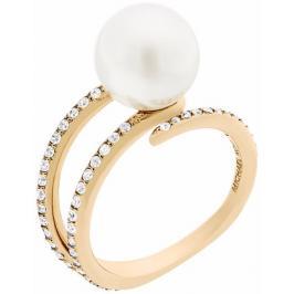 Michael Kors Dámský prsten s korálkem a krystaly MKJ6313710 58 mm
