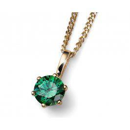 Oliver Weber Pozlacený stříbrný náhrdelník s krystalem Brilliance 61125G GRE