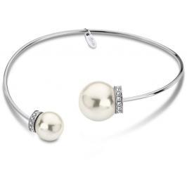 Lotus Style Pevný ocelový náramek s perličkami LS1824-2/1