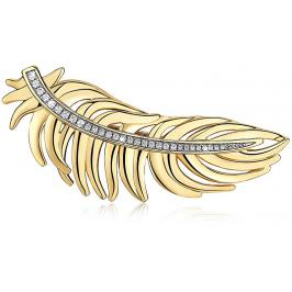 Brosway Pozlacená peříčková brož Plume BUM42