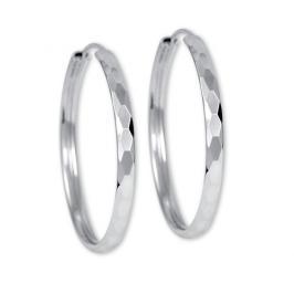 Brilio Silver Náušnice stříbrné kruhy 431 158 00027 04