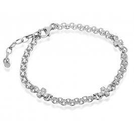 Brilio Silver Stříbrný náramek s křížky 461 063 00814 04 - 5,94 g