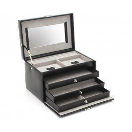 Friedrich Lederwaren Šperkovnice černá/šedá Jolie 23255-20