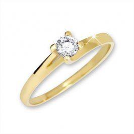 Brilio Zlatý zásnubní prsten 223 001 00090 - 1,65 g 58 mm
