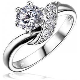 Silvego Stříbrný zásnubní prsten SHZR234 52 mm