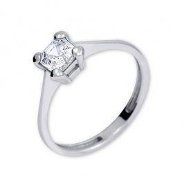 Brilio Silver Stříbrný zásnubní prsten s krystalem 426 001 00427 04 - 1,62 g 60 mm