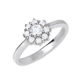 Brilio Silver Stříbrný zásnubní prsten 426 001 00432 04 - čirý - 2,30 g 58 mm