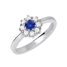 Brilio Silver Stříbrný zásnubní prsten 426 001 00432 04 - modrý - 2,30 g 60 mm