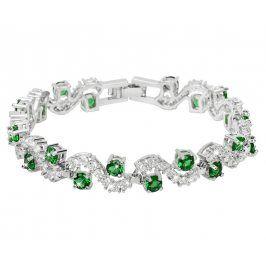 Troli Třpytivý náramek se zelenými krystaly