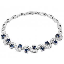 Troli Krásný třpytivý náramek s modrými krystaly