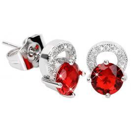 Troli Překrásné třpytivé náušnice s červenými krystaly