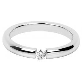 Troli Něžný ocelový prsten s krystalem TO2058