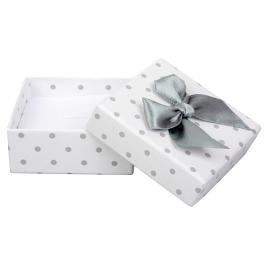 JK Box Puntíkatá krabička na soupravu šperků KK-4/A1