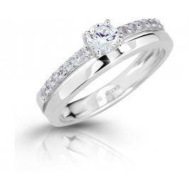 Modesi Slušivý prsten se zirkony M11102 - SLEVA