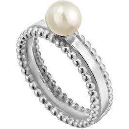 Esprit Stříbrný prsten se syntetickou perlou Powder ESRG002011 54 mm